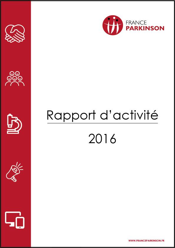 France Parkinson Page de couverture rapport d'activité 2016