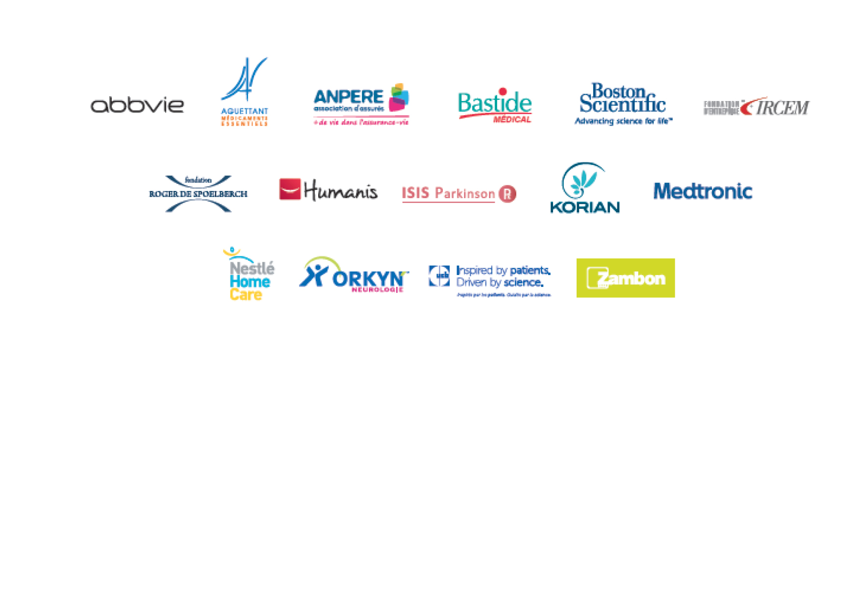 Partenaires de la journée mondiale Parkinson 2017