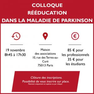Colloque France Parkinson novembre 2018